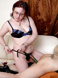Mischievous chick preparing a strap-on for dirty games with her neighbour pictures at kilosex.com