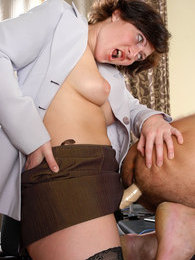Freaky chick sliding her strap-on into guy's eager mouth and tight bumhole pictures at freekiloclips.com