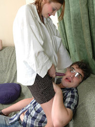 The desire burns in guy's eyes as he reveals strap-on under babe's skirt pictures at kilotop.com