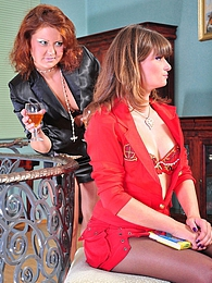 Drunken vixens clad in sheer-to-waist pantyhose grind asses and toy pussies pictures at kilovideos.com
