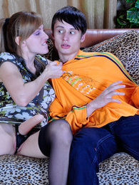 Freaky gal prepares a weird strap-on surprise for her astonished boyfriend pictures at kilovideos.com