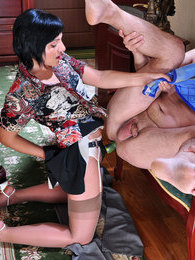 Strap-on armed chick waits for her lover to cram and drill his washed butt pictures at freekilomovies.com