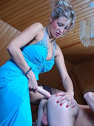 Luscious babe with a strap-on gets into fucking mood in butt-plowing action pictures at dailyadult.info