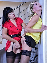 Lustful sissy slut craving to suck a strap-on cock after a hot anal quickie pictures at dailyadult.info