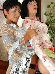 Lewd sissy maid getting down to strap-on fucking before a hard working day pictures at find-best-pussy.com