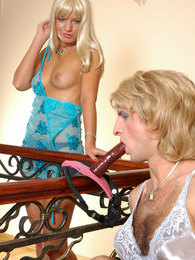 Sissified maid ready to work overtime to feel a strap-on in his backdoor pictures