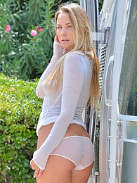 Courtney in the Airstream pictures at find-best-lingerie.com