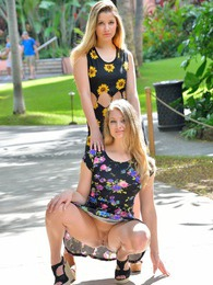 Nicole and Veronica Gorgeous Tourists pictures at find-best-panties.com