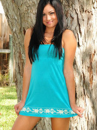 Cierra looks innocent in her baby blue pictures