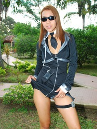 Tania Spice is a police girl in action that gets all wet pictures
