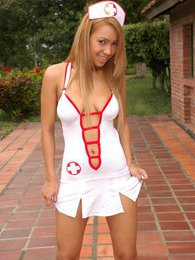 Nurse Tania really knows how to make you feel better with her magic fingers pictures at kilosex.com