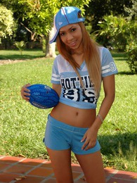 Tania Spice shows you how naughty she gets after taking her blue outfit off pictures at kilotop.com