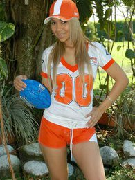 Tania Spice is one sexy football star and a naughty one as well pictures