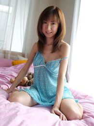 Anna is a slutty hard partying Japanese babe when she has time off from work pictures at lingerie-mania.com