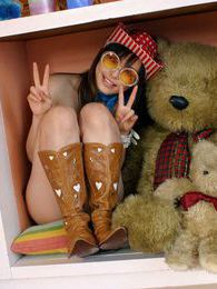 Hot Japanese cowgirl is very fuckable in her hat and boots and just waiting to go pictures at freekilopics.com