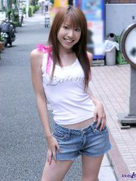 Japanese model Yuuna is a bit shy when she models but she is a hot slut in the sack pictures