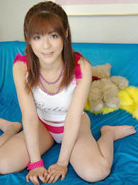 Japanese beauty is a naughty slut who likes to show her pussy and firm round tits pictures at kilosex.com