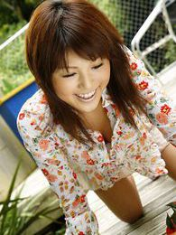 Beautiful Japanese babe knows all the guys want to see her lovely body pictures at lingerie-mania.com