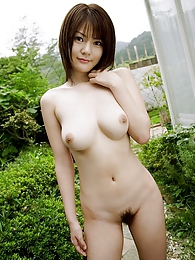Riria Himesaki hot Japanese babe shows off nice tits and firm ass pictures at kilogirls.com