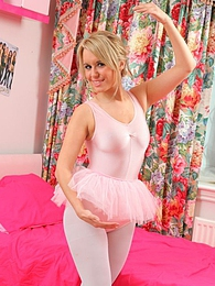 Michelle X shows off her breathtaking curves in her skin tight leotard and tutu pictures