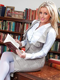 The gorgeous Amy Green in the study pictures