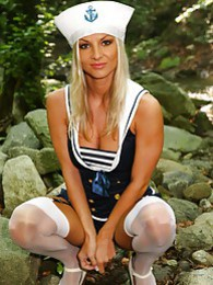 Sailor Tammy strips out of her uniform to show off her perfect body pictures at relaxxx.net