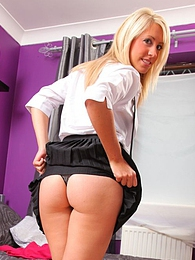 Cheeky college girl gives a lesson in tease as she strips out of her uniform pictures