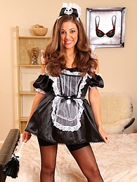 Beautiful Ava in maids outfit pictures at adspics.com