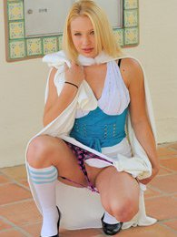 Nikkie in a school girl outfit pulls her labia hard pictures at sgirls.net