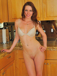 Meghan panty stuffing in the kitchen pictures at lingerie-mania.com