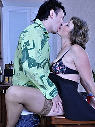 Older seamstress tricks a boy into oral foreplay before raw pussy banging pictures at freekilosex.com