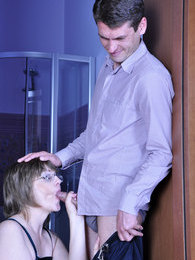 Wanton mature lady gives a test-drive to a new bed with a cute young broker pictures at lingerie-mania.com