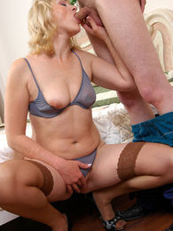 Plump mature babe undresses luring a serviceman into hot doggystyle fucking pictures at kilovideos.com