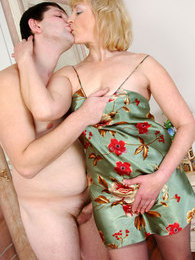 Blond mom hides her lover after oral foreplay with a creamy hardcore finale pictures at kilovideos.com