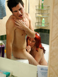Milf in-heat intrudes into the bathroom for a dosage of fresh meaty filling pictures