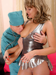Dazzling mature seducing a younger doc giving her a steamy cock treatment   pictures at find-best-hardcore.com