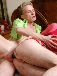 Dressed like a femme sissy lures his friend into steamy man-on-man action pictures