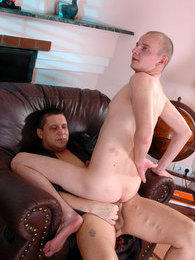 Kinky servant gets naked and offers his master an extra service of gay sex pictures at find-best-hardcore.com