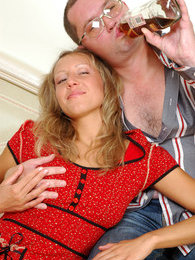 Older male makes a stunning girlie drunk and ready for sizzling hot dicking pictures at freekilomovies.com