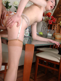 Aging guy willingly sharing his oral and fucking skills with a pretty girl pictures at find-best-panties.com