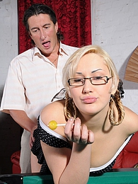 It takes a young teaser seconds to seduce an older male into oral workout pictures at lingerie-mania.com
