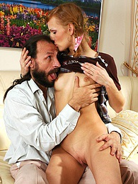 Hot filly hikes up her skirt to get new sensations with her aging neighbor pictures at find-best-panties.com