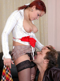 Young maid interrupting her household chores for a score with an old master pictures at find-best-panties.com