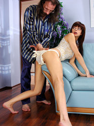 Naughty girl spanked for sneaking a drink pleasing aging hot-to-trot stud pictures at find-best-panties.com