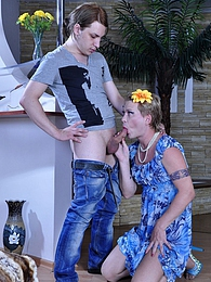 Nasty gay guy enjoys getting it on wearing female clothes and jazzy make-up pictures