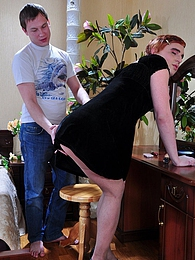 Horny sissy in a little black dress tastes a sturdy cock before hard anal pictures