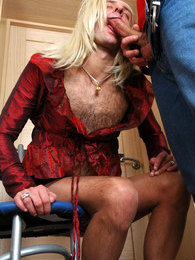 Nasty sissy fits on a wig and female clothes before getting his ass stuffed pictures