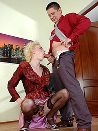 Nasty gay sissy getting his tight ass pounded right at the art exhibition pictures at find-best-lingerie.com