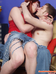 Kinky gay sissy filling guy's mouth with his pecker before hard ass-fucking pictures at lingerie-mania.com