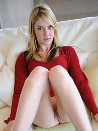 Riley gets naughty on the couch pictures at kilovideos.com